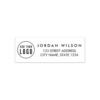 Add Your Logo Simple Modern Return Address Self-inking Stamp
