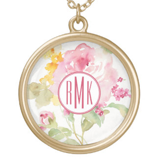 Add Your Monogram | Mid July Gold Plated Necklace