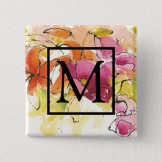 Add Your Monogram | Pattys Plum 2 Inch Square Button