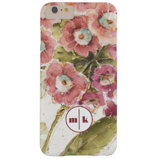 Add Your Monogram | Pink Primrose Barely There iPhone 6 Plus Case