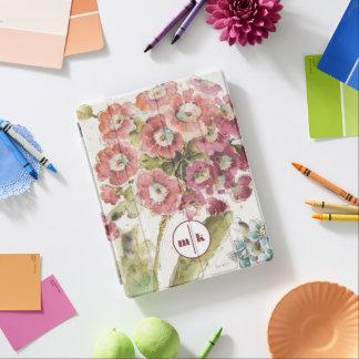 Add Your Monogram   Pink Primrose iPad Cover