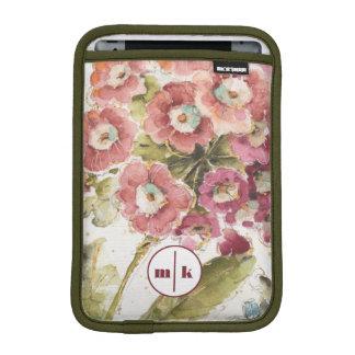 Add Your Monogram | Pink Primrose iPad Mini Sleeve