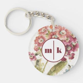 Add Your Monogram | Pink Primrose Keychain