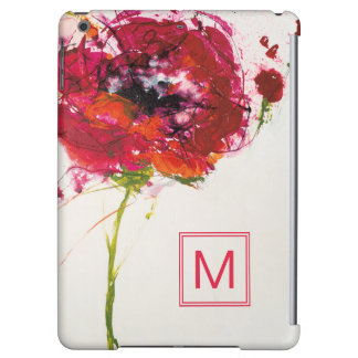 Add Your Monogram | Poppy on White iPad Air Covers