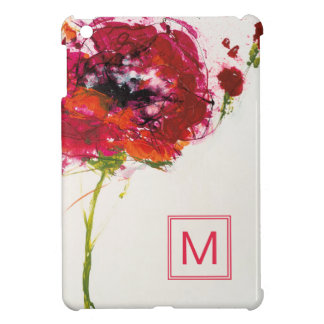 Add Your Monogram | Poppy on White iPad Mini Case