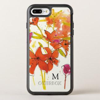 Add Your Monogram   The Plum of Patty OtterBox Symmetry iPhone 8 Plus/7 Plus Case