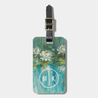 Add Your Monogram | Water Lily Pond Bag Tag
