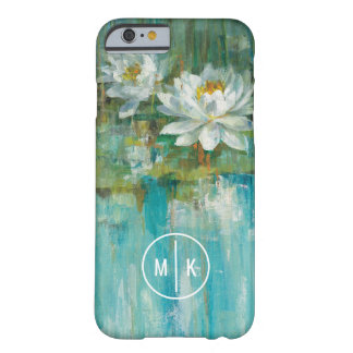 Add Your Monogram | Water Lily Pond Barely There iPhone 6 Case