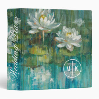 Add Your Monogram | Water Lily Pond Binders