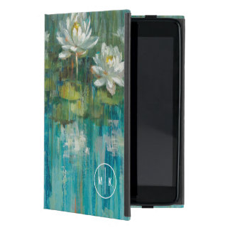 Add Your Monogram | Water Lily Pond Case For iPad Mini