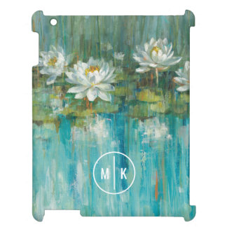 Add Your Monogram | Water Lily Pond Cover For The iPad