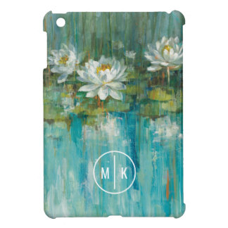 Add Your Monogram | Water Lily Pond Cover For The iPad Mini