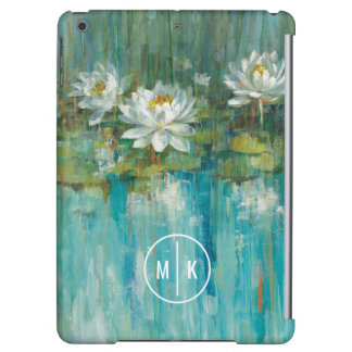 Add Your Monogram | Water Lily Pond iPad Air Covers