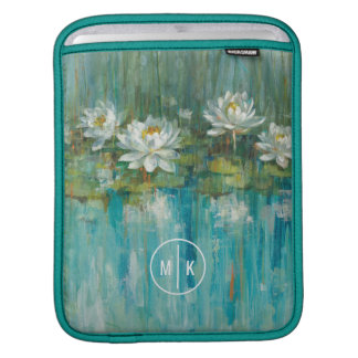 Add Your Monogram | Water Lily Pond iPad Sleeve