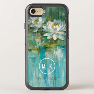 Add Your Monogram | Water Lily Pond OtterBox Symmetry iPhone 7 Case