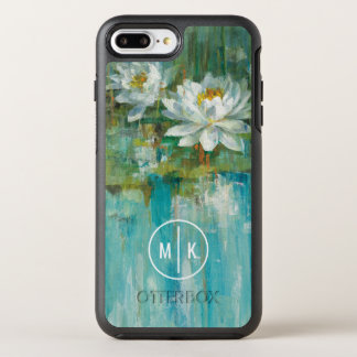 Add Your Monogram | Water Lily Pond OtterBox Symmetry iPhone 7 Plus Case