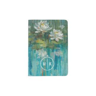 Add Your Monogram | Water Lily Pond Passport Holder