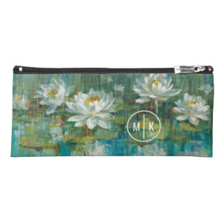 Add Your Monogram | Water Lily Pond Pencil Case