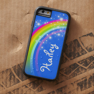 Add your name 5 letter rainbow blue iphone case