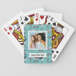 Add Your Name | All Of The Sea Pattern Playing Cards