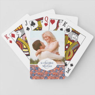 Add Your Name | Anchor And Jellyfish Pattern Playing Cards