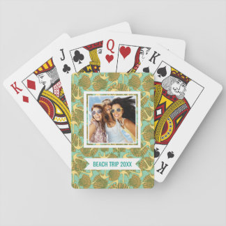 Add Your Name | Anchor And Shells In Vintage Style Poker Deck