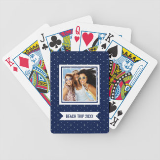 Add Your Name | Anchor Polka Dots Pattern Bicycle Playing Cards