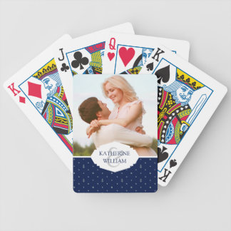 Add Your Name | Anchor Polka Dots Pattern Poker Deck