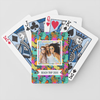 Add Your Name | Animal Silhouettes Pattern Poker Deck
