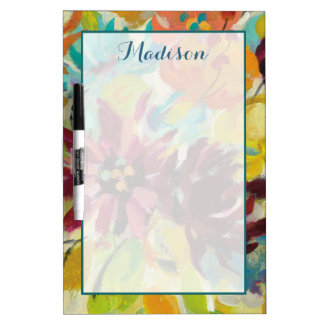 Add Your Name | Autumn Joy Flowers Dry Erase Board