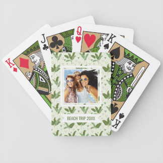Add Your Name | Banana Leaf With Triangles Bicycle Playing Cards