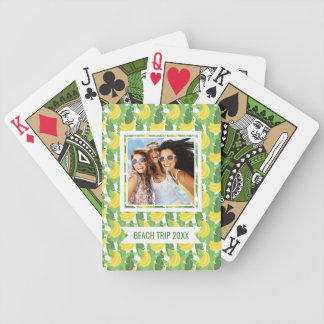 Add Your Name | Banana Leaves And Fruit Pattern Bicycle Playing Cards