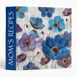 Add Your Name | Bold Anemones 3 Ring Binder