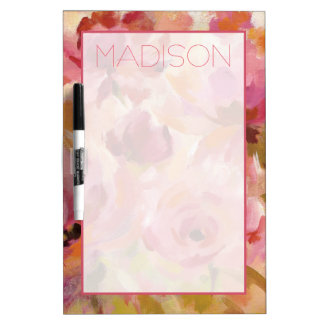Add Your Name | Bouquet of Roses Dry-Erase Whiteboards