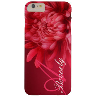 Add your name chrysanthemum red hue iphone case