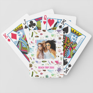 Add Your Name | Colorful Sea Life Bicycle Playing Cards