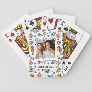 Add Your Name | Colorful Underwater Sea Life Patte Playing Cards