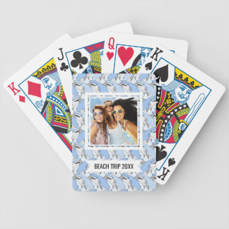 Add Your Name | Cute Shark Pattern Bicycle Playing Cards