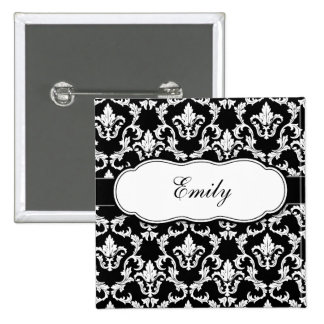 Add Your Name Damask Button