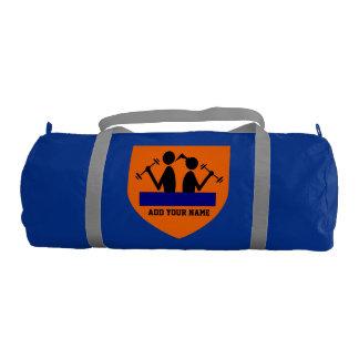 Add Your Name Duffle Gym Bag, Regatta Blue color