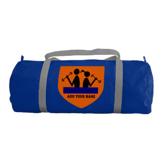 Add Your Name Duffle Gym Bag, Regatta Blue color Gym Bag