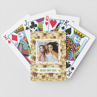 Add Your Name | Elephants And Palms In Camouflage Bicycle Playing Cards