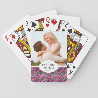Add Your Name | Ethnic Style Animal Pattern Playing Cards