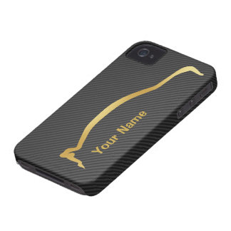 """""""add your name"""" Evolution X Gold Silhouette iPhone 4 Case-Mate Cases"""