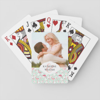 Add Your Name | Flamingo Bird With Feathers Poker Deck