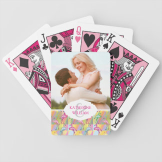 Add Your Name | Flamingo Parade Bicycle Playing Cards