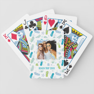 Add Your Name | Flip Flop Pattern Bicycle Playing Cards