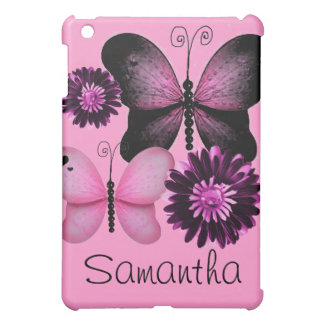 Add Your Name Flowers and Butterflies iPad Case