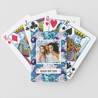 Add Your Name | Funky Seashell Pattern Bicycle Playing Cards
