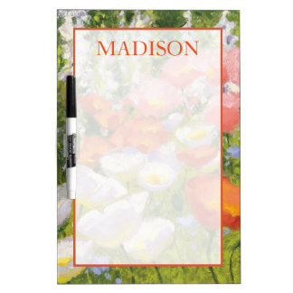 Add Your Name | Garden Pastels Dry-Erase Boards